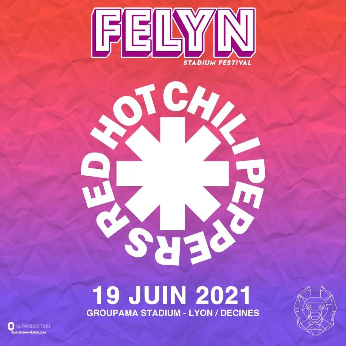 Les Red Hot Chili Peppers en france en 2021
