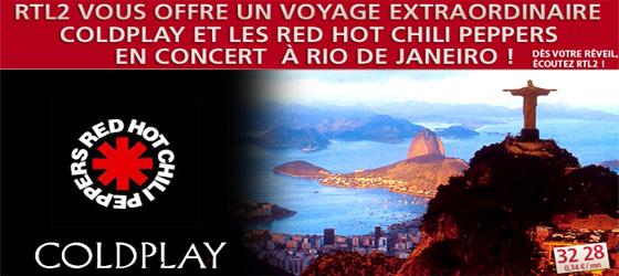 Aller voir les RHCP à Rio avec RTL2