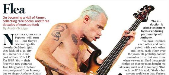 Interview de Flea dans Rolling Stone US