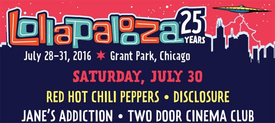 RHCP au Lollapalooza 2016