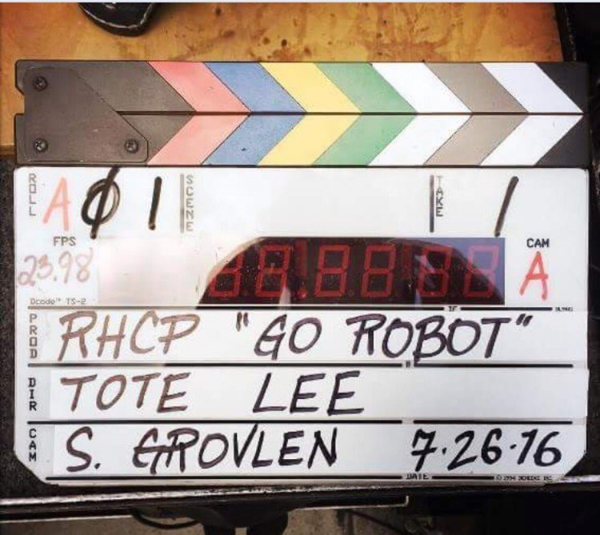 Tournage du clip Go Robot