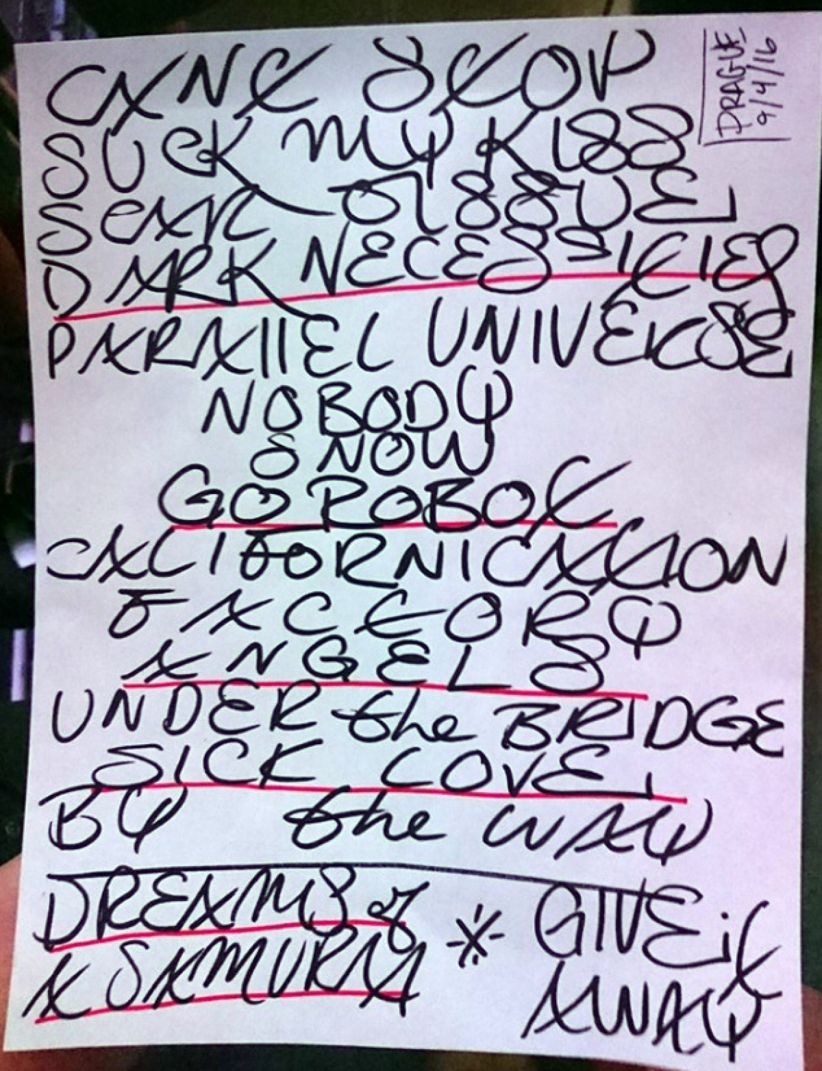 Compte rendu concert Prague (04/09/2016)