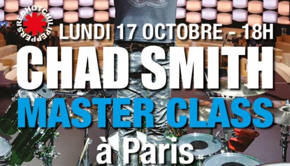 Chad Smith Master Class à Paris