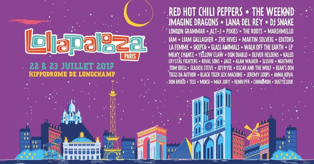 Red Hot au Lollapalooza Paris 2017