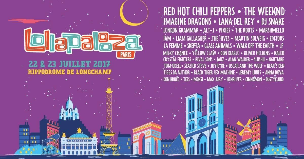 Live des RHCP Lollapalooza Paris